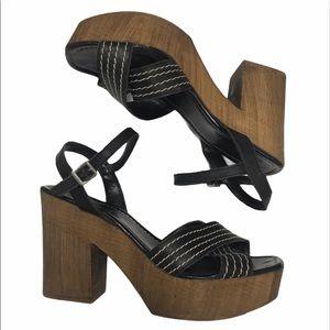 TopShop Wood Block Heels